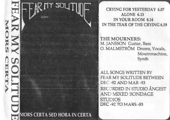 Fear My Solitude - Mors Certa Sed Hora In Cerrta