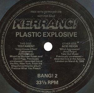 Testament / Acid Reign - Kerrang! Plastic Explosive