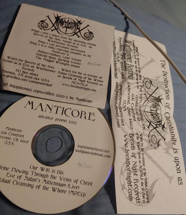 Manticore - Advance Promo 2002