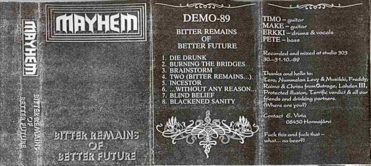 Mayhem - Bitter Remains of Better Future