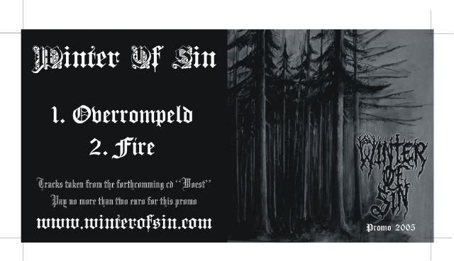 Winter of Sin - Promo 2005