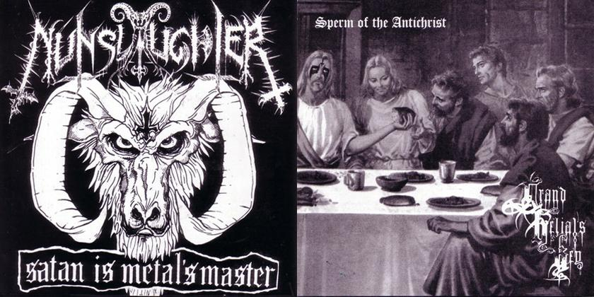 Grand Belial's Key / Nunslaughter - Satan Is Metal's Master / Sperm of the Antichrist