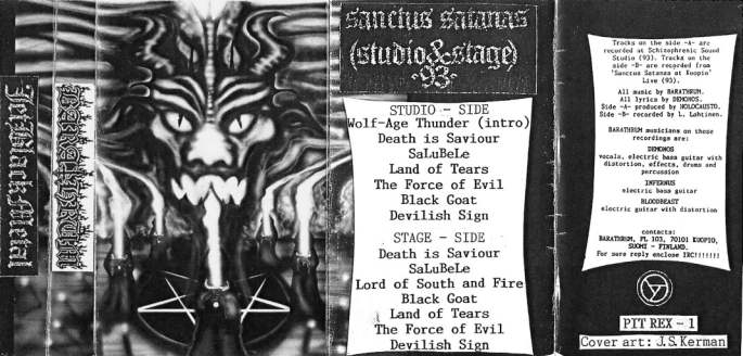 Barathrum - Sanctus Satanas (Studio & Stage)