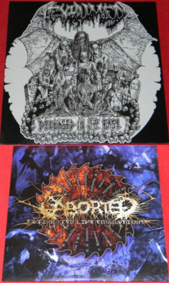 Exhumed / Aborted - Deceased in the East / Extirpated Live Emanations