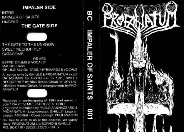 Profanatum - Impaler of Saints