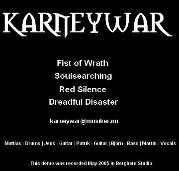 Karneywar - Demo 2005