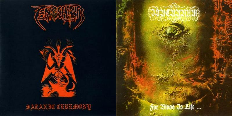 Enochian / Isacaarum - Satanic Ceremony / For Blood Is Life...