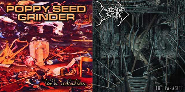 Defeated Sanity / Poppy Seed Grinder - Talk Evolution / The Parasite