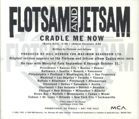 Flotsam and Jetsam - Cradle Me Now