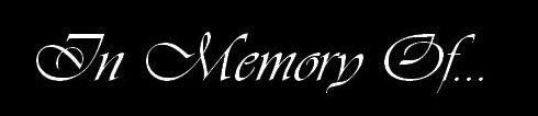 In Memory of... - Logo