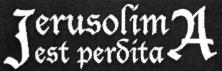 Jerusolima Est Perdita - Logo