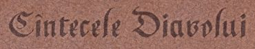 Cintecele Diavolui - Logo