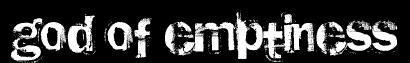 God of Emptiness - Logo