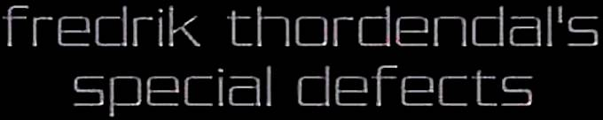 Fredrik Thordendal's Special Defects - Logo