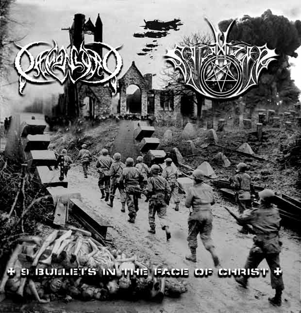 Daemonlord / Satanizer - 9 Bullets in the Face of Christ