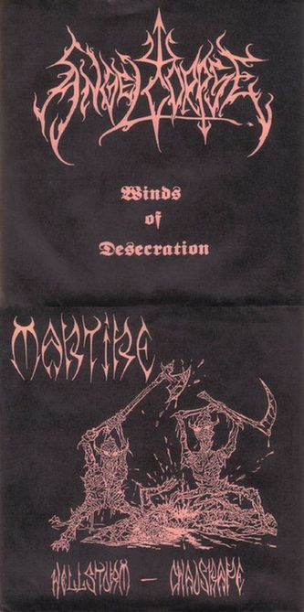 Angelcorpse / Martire - Winds of Desecration / Hellstorm - Chaosrape