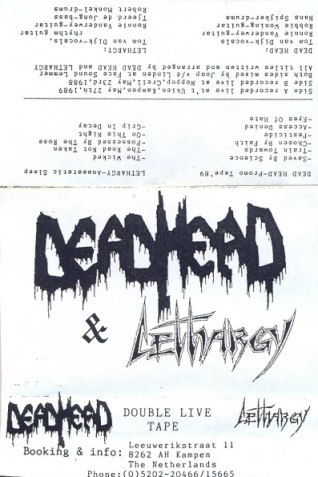 Dead Head / Lethargy - Promo Tape '89 / Anaesthetic Sleep