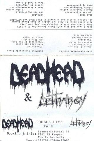 Dead Head / Lethargy - Promo Tape '89 / Anaesthetic Sleep