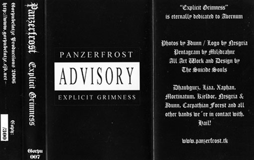 Panzerfrost - Explicit Grimness