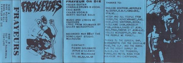 Frayeurs - Frayeurs or Die