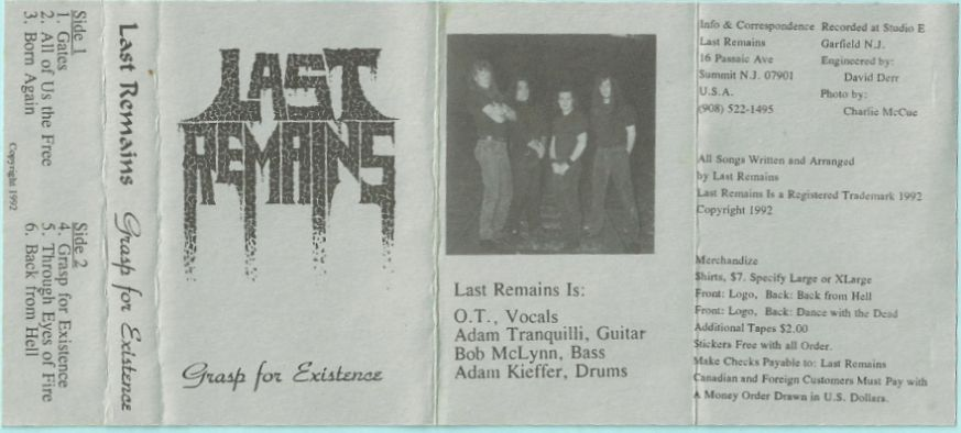 Last Remains - Grasp for Existence