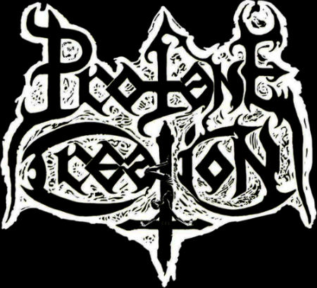 creation logo black metal