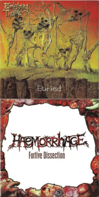 Haemorrhage / Embalming Theatre - Buried / Furtive Dissection