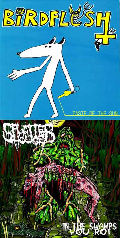 Birdflesh / Splatterhouse - Taste of the Sun / In the Swamps You Rot
