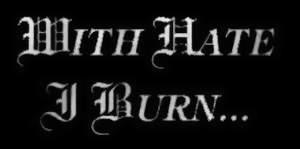 With Hate I Burn - Logo