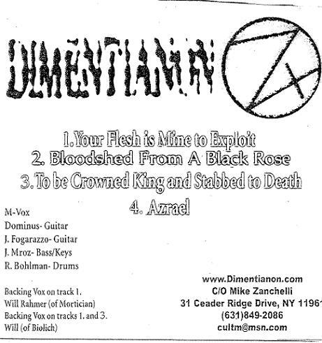 Dimentianon - Promo 2007