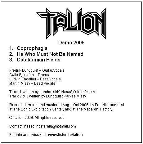 Talion - Demo 2006