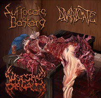 Suffocate Bastard / Divaricate / Visceral Carnage - Mutilated and Split into Thirds