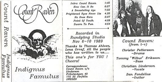 Count Raven - Indignus Famulus