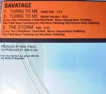 Savatage - Turns to Me