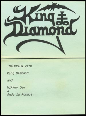 King Diamond - Coven Fan Club Exclusive Interview