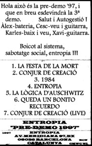 Entropia - Pre-Demo 1997