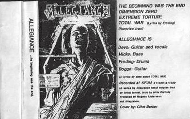Allegiance - The Beginning Was the End