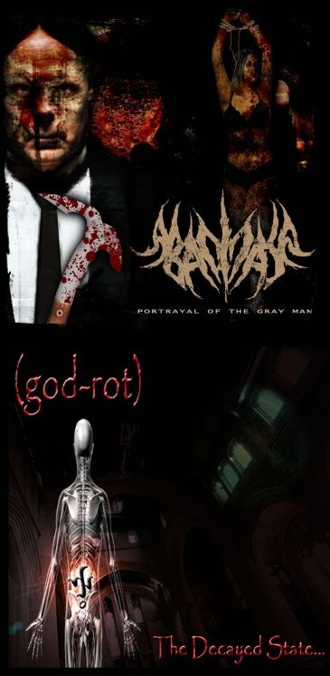 Abacinate / (god-rot) - Portrayal of the Gray Man / The Decayed State...
