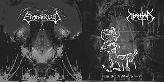 Enshadowed / Mantak - Nekrosimon / The Art ov Blasphemies