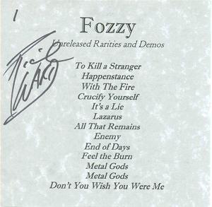 Fozzy - Rarities Vol. 1