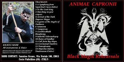 Animae Capronii - Black Magik Rehearsal