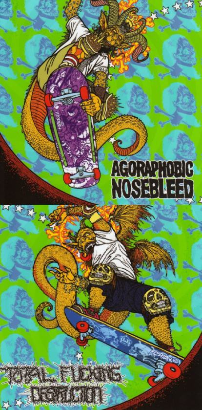 Total Fucking Destruction / Agoraphobic Nosebleed - Frontside Nosegrind EP