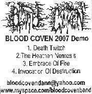 Blood Coven - Blood Coven 2007 Demo