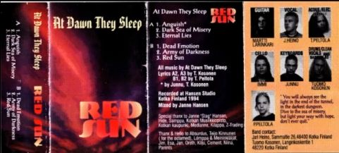 At Dawn They Sleep - Red Sun