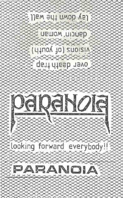 Paranoia - Looking Forward Everybody!!