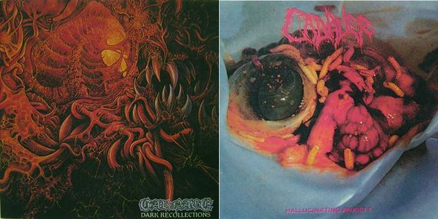 Cadaver / Carnage - Dark Recollections / Hallucinating Anxiety