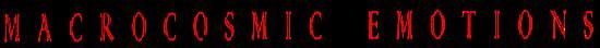 Macrocosmic Emotions - Logo