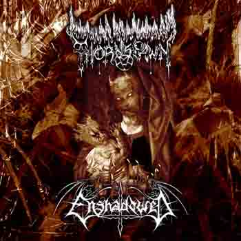 Thornspawn / Enshadowed - 6 Black Candles, 6 Rotting Hearts, 6 Sacrifices for Satan