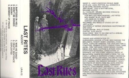Last Rites - Agony