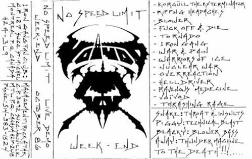 Voivod - No Speed Limit Weekend